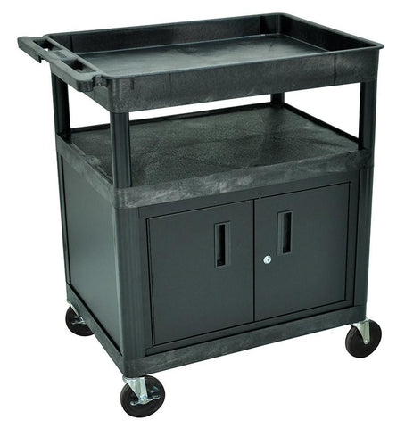 Luxor TC122C-B Luxor Black 3 shelf (Tub, Flat, Flat) WithCABINET - Peazz.com