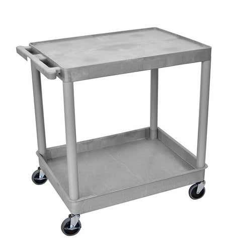 Luxor TC21-G 2 Shelf Large Gray Tub Cart - Peazz.com