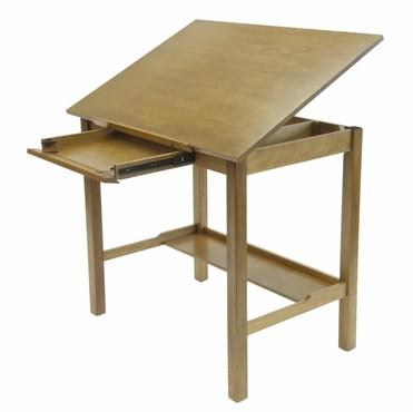 "Studio Designs 13254 Americana II Drafting Table Ð 30"" x 42"" Light Oak - Peazz.com"