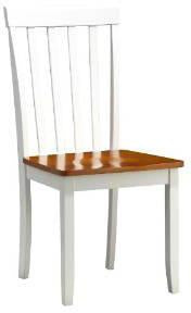 Boraam 22031 Bloomington Dining Chair, set of 2, White/Honey Oak - Peazz.com
