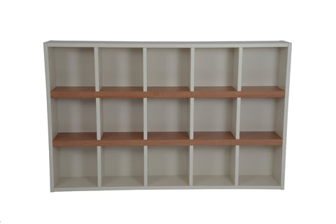 Boraam 30580 Techny Collection Turner Bookcase, Cream/Maple - Peazz.com