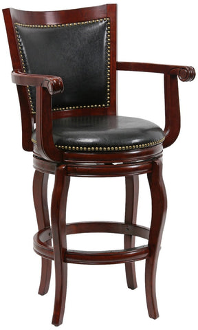 "Boraam 52129 29"" Jones Memory Swivel Stool, Cherry - BarstoolDirect.com"