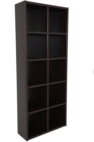 Boraam 80100 Techny Collection Calder Bookcase, Espresso - Peazz.com