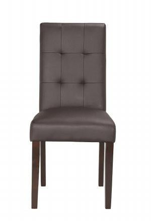 Boraam 82318 Lyon Parson Dining Chair, set of 2, Brown - Peazz.com