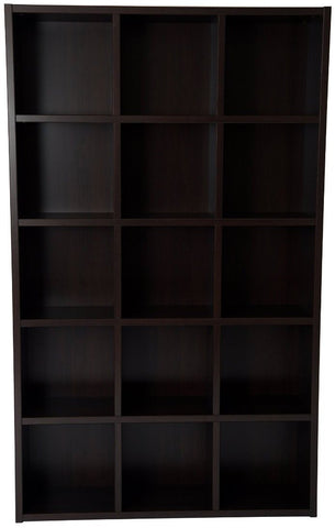 Boraam 90010 Techny Collection Kline Bookcase, Espresso - Peazz.com