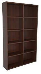 Boraam 90101 Techny Collection Whistler Bookcase, Walnut - Peazz.com