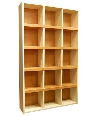 Boraam 90580 Techny Collection Scully Bookcase, Cream/Maple - Peazz.com