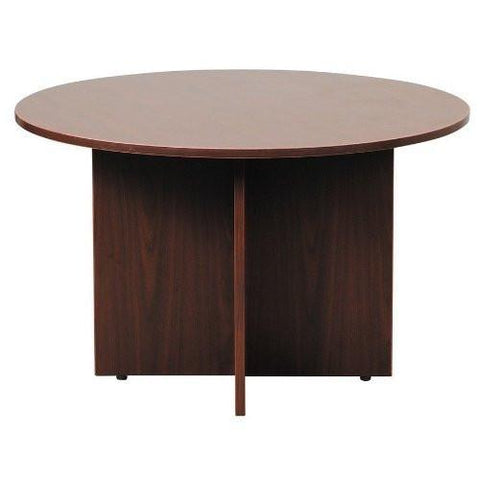 "Boss Office Products N127-M Boss 42"" Round Table, Mahogany - Peazz.com"