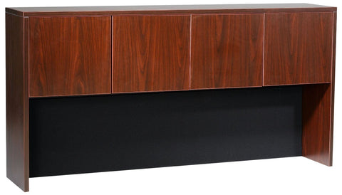 "Boss Office Products N140-M Boss 66"" Four Door Hutch - Mahogany - Peazz.com"