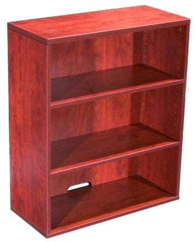 Boss Office Products N153-C Boss Open Hutch/Bookcase- Cherry - Peazz.com