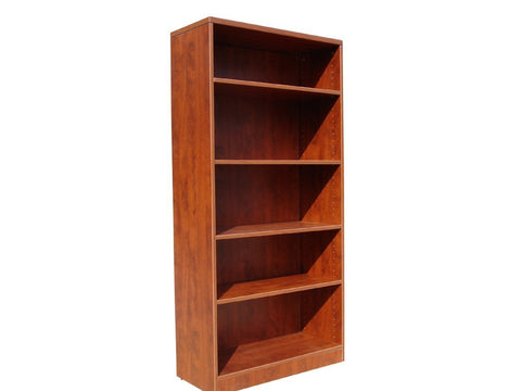 Boss Office Products N158-C Boss Bookcase, 31W X14D X 65.5H Cherry - Peazz.com