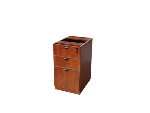 Boss Office Products N166-C Boss Deluxe Pedestal-Full, Box/Box/File, 15.5W*22D, Cherry - Peazz.com