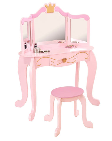 KidKraft 76123 New Princess Table & Stool - Peazz.com