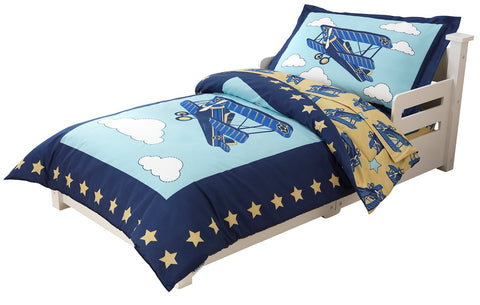 KidKraft 77010 Airplane Toddler Bedding 4 pc Set - Peazz.com