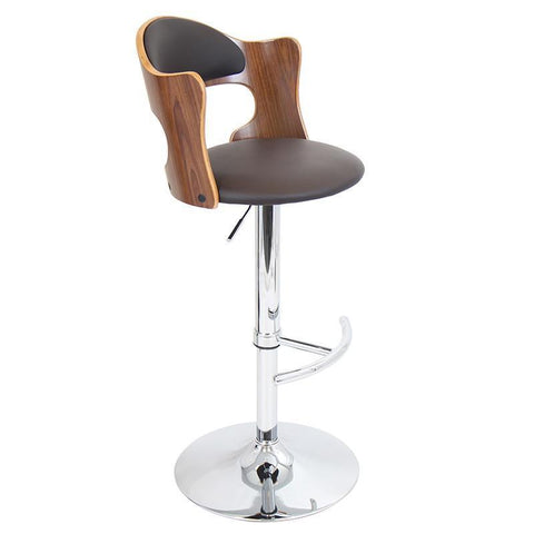 LumiSource BS-JY-CLO WL+BN Cello Bar Stool - BarstoolDirect.com