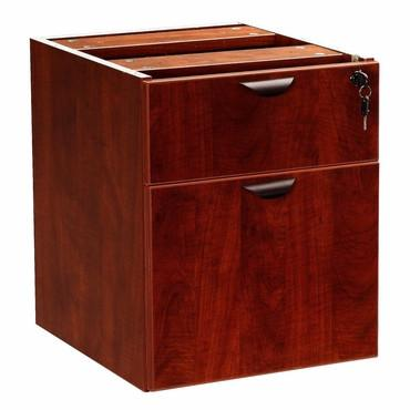 Boss Office Products N108-M Boss 2 Hanging Pedestal - 3/4 Box/File , Mahogany - Peazz.com
