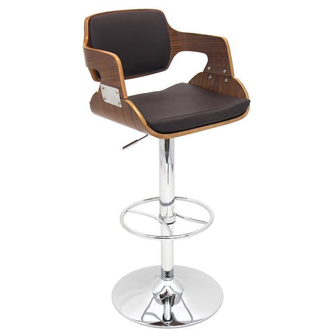 LumiSource BS-JY-FR WAL+BN Fiore Bar Stool - BarstoolDirect.com