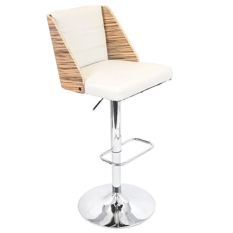 LumiSource BS-JY-GAL ZB+CR Galanti Bar Stool - BarstoolDirect.com