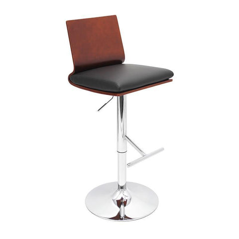 LumiSource BS-JY-KO CH+BK Koko Bar Stool - BarstoolDirect.com