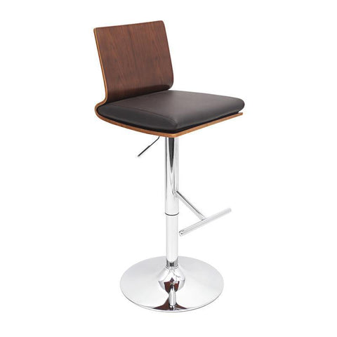 LumiSource BS-JY-KO WAL+BN Koko Bar Stool - BarstoolDirect.com