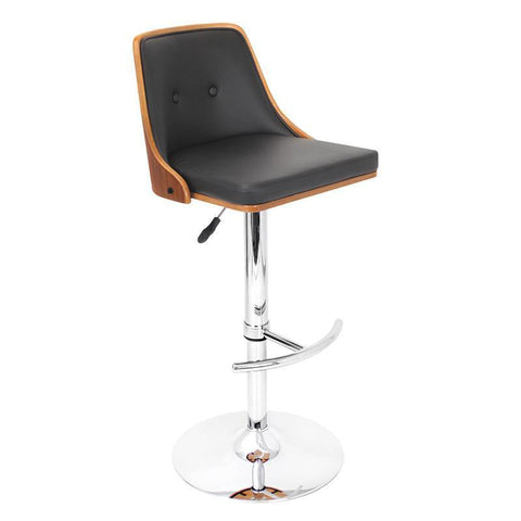LumiSource BS-JY-NU WAL+BK Nueva Bar Stool - BarstoolDirect.com