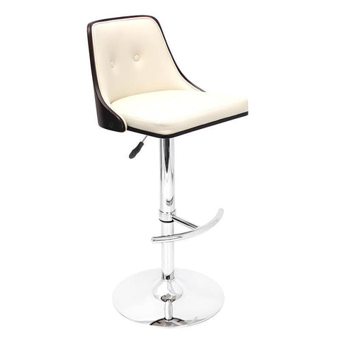 LumiSource BS-JY-NU WG+CR Nueva Bar Stool - BarstoolDirect.com