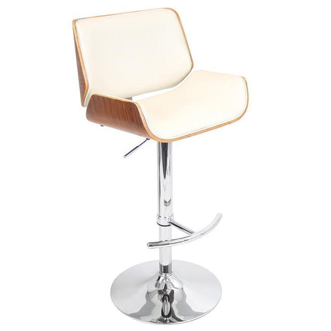 LumiSource BS-JY-SNT WL+CR Santi Bar Stool - BarstoolDirect.com
