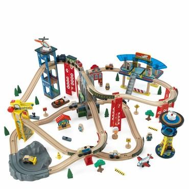 KidKraft 17809 Super Highway Train Set Only - Peazz.com