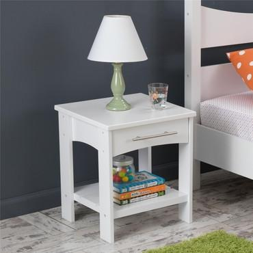 KidKraft 76272 Addison Twin Side Table White - Peazz.com