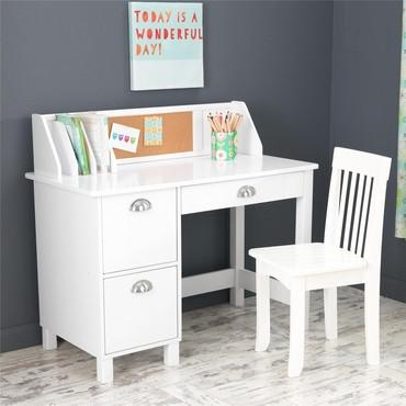 KidKraft 26704 Study Desk with Drawers - White - Peazz.com
