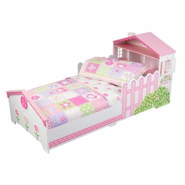 KidKraft 77008 Dollhouse Cottage Toddler Bedding 4 pc Set - Peazz.com
