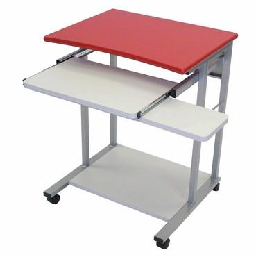 Luxor LCT29-R Luxor Mobile Computer Desk Red - Peazz.com