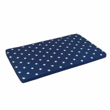 KidKraft 14112 Austin Toy Box Cushion- White/Navy Stars - Peazz.com