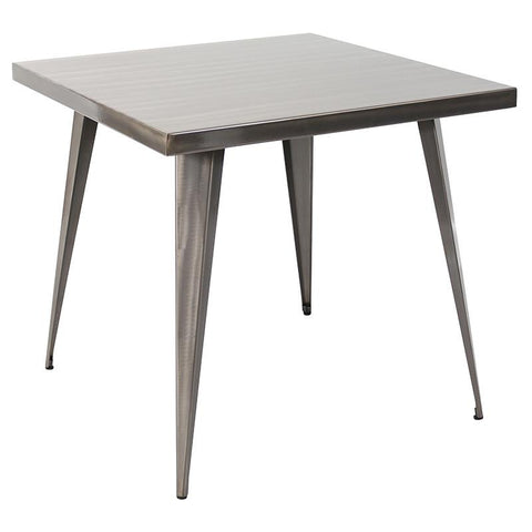 "LumiSource DT-TW-AU3232 SV Austin Dining Table 32"" x 32"" - Peazz.com"