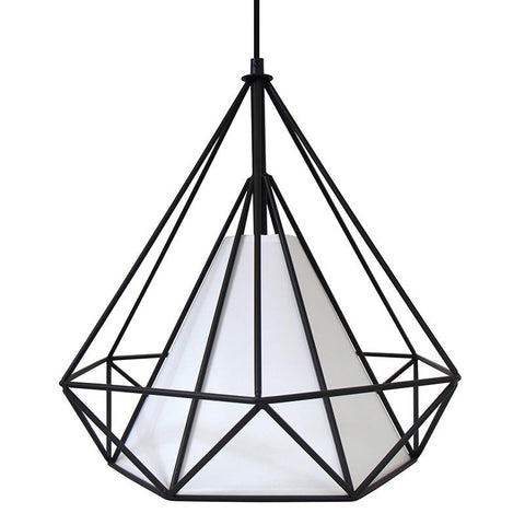 LumiSource LS-OHDRN14 BK Hedron Pendant Lamp - Peazz.com