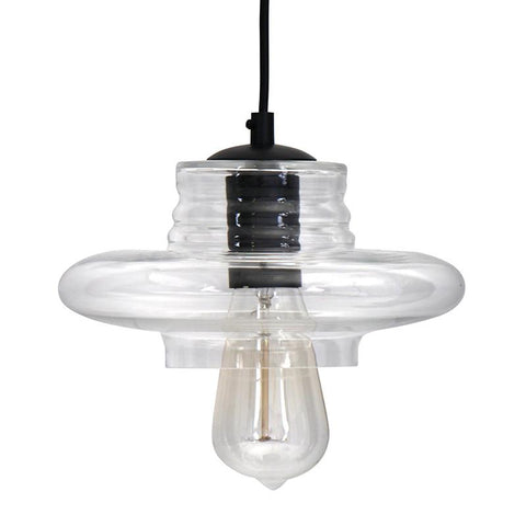 LumiSource LS-OTRSSAU8 CL Torus-Long Pendant Lamp - Peazz.com