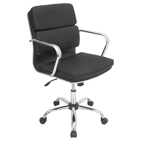 LumiSource OFC-AC-BAC BK Bachelor Office Chair - Peazz.com