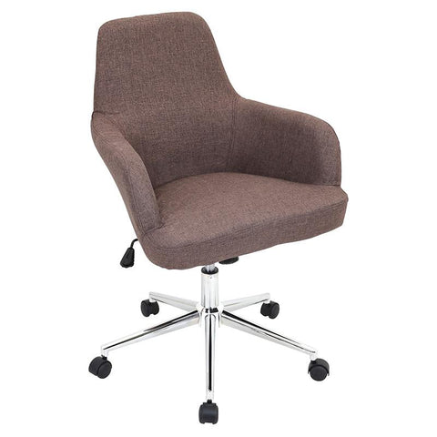 LumiSource OFC-AC-DGR BN Degree Office Chair Brown - Peazz.com