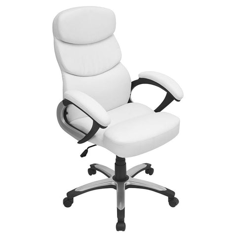 LumiSource OFC-AC-DOC W Doctorate Office Chair - Peazz.com