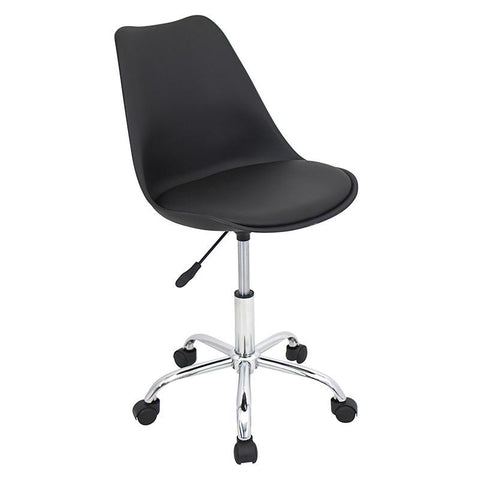 LumiSource OFC-PTL BK+BK Petal Office Chair - Peazz.com