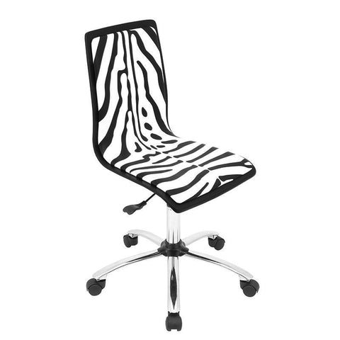 LumiSource OFC-TM-PZB BK+W Printed Office Chair - BarstoolDirect.com