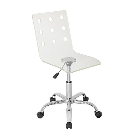 LumiSource OFC-TW-SWISS CL Swiss  Acrylic Office Chair - Peazz.com