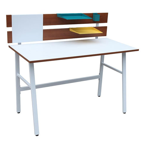 LumiSource OFD-JN BCH BN+W Bench Desk - Peazz.com