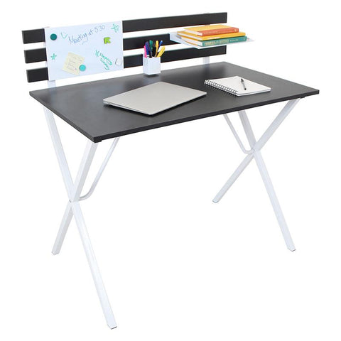 LumiSource OFD-JN ORG BK+W Organizer Desk - Peazz.com