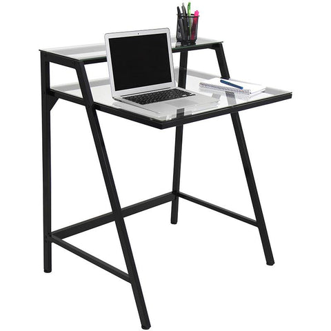 LumiSource OFD-TM-2TIER CL 2-Tier Desk - Peazz.com