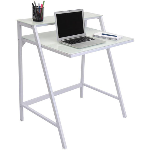 LumiSource OFD-TM-2TIER W 2-Tier Desk - Peazz.com