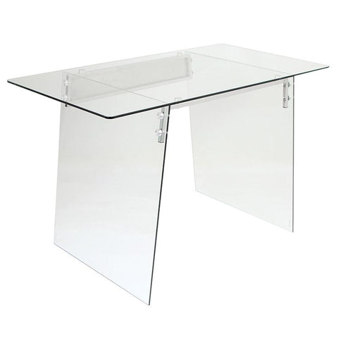 LumiSource OFD-TM-GLACE Glacier Desk - Peazz.com