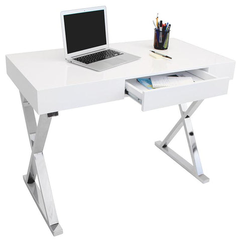 LumiSource OFD-TM-LSTR W Luster Desk - Peazz.com