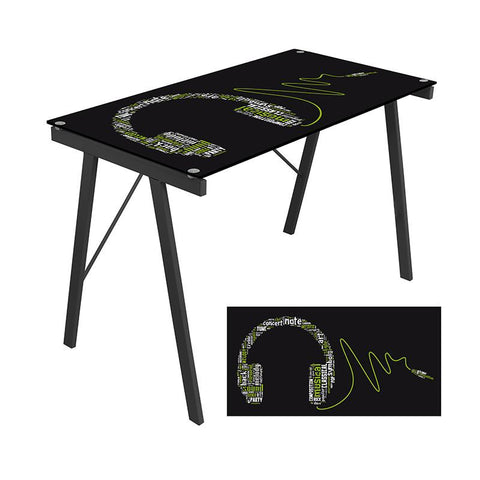 LumiSource OFD-TM-PGHDPH Graphic Top Exponent Desk - Peazz.com