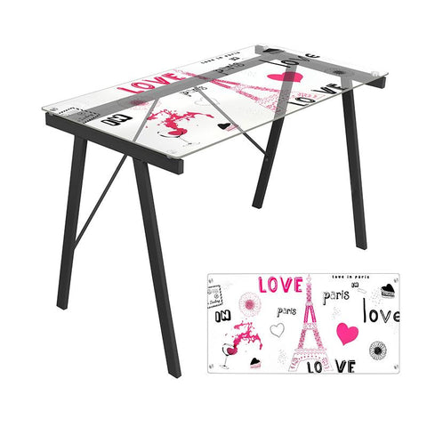 LumiSource OFD-TM-PGPARIS Graphic Top Exponent Desk - Peazz.com